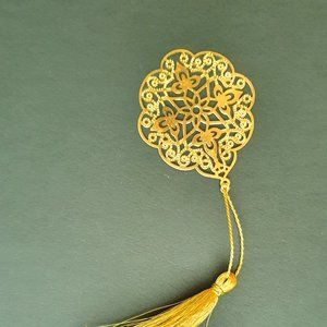 Other - Bookmark Design-Brass metal cutting flower 3